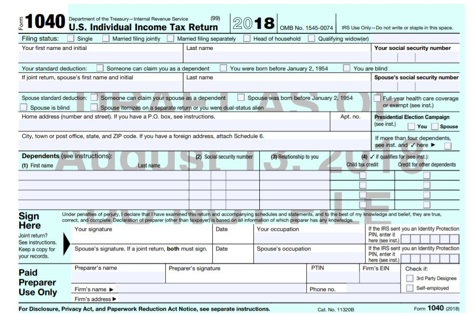 Tax form 1040 Changed | MD Bookkeeping & Tax Services